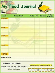 Food diary log open office templates based on a for Open office journal template