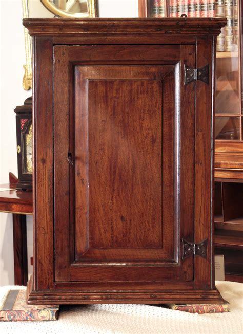 Antique oak wall hanging cupboard, antique spice cupboard