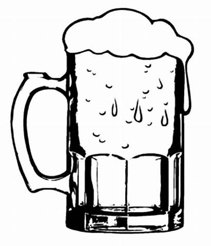 Beer Glass Clipart Coloring Pages Mug Cold