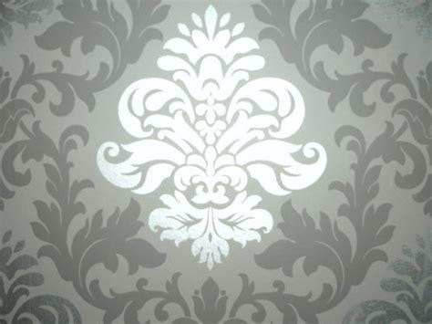 tapete barock grau luxus retro barock tapete silber grau metall ebay