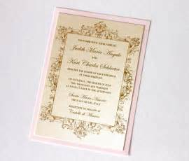 pink and gold wedding invitations embellished paperie vintage wedding invitations in ivory gold and blush pink
