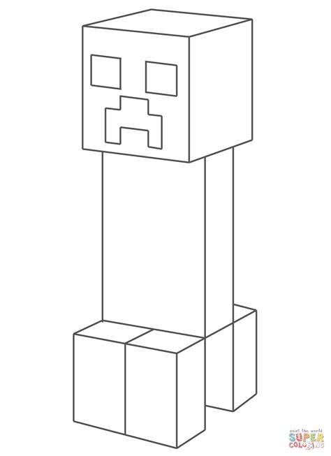 creeper  minecraft coloring page  coloring pages