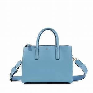 Anya hindmarch Ebury Soft Small Smiley Bag in Blue | Lyst