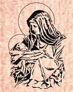 07-R1-6 - Mary and Jesus Downloadable PDF Scroll Saw
