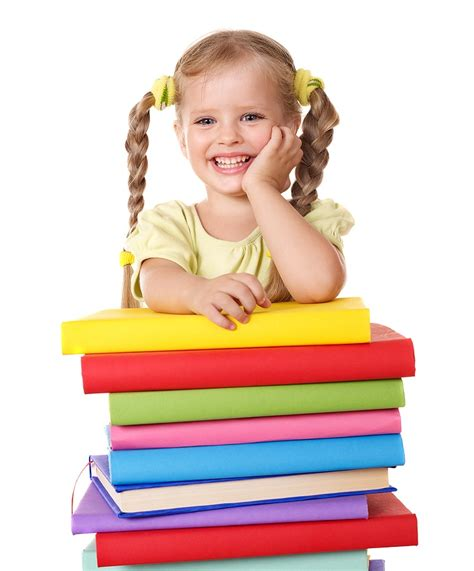 current parents 478 | Little girl holding pile of books