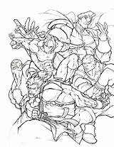 Coloring Pages Fighter Street Ryu Shoryuken Thread Fight Printable Getcolorings Awesome Streetfighter Marvel sketch template