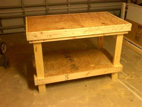 wood clean easy sturdy workbench plans