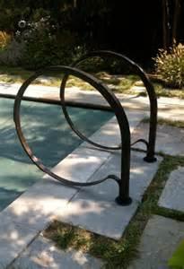 blacksmith custom designed pool railing forged steel