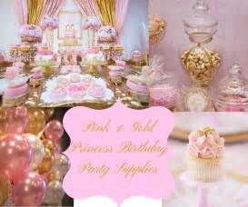 pink gold princess birthday party supplies hip who rae