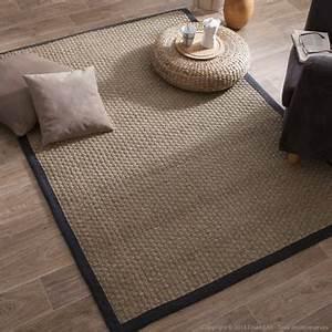 house bay tapis jonc de mer tissage large avec ganse en With tapis jonc de mer avec canapé incurvé