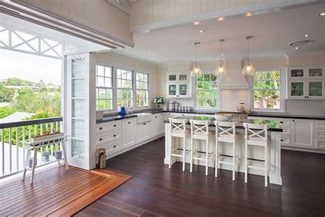 queenslander hampton style house kitchens hamptons