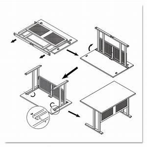 Alera Qad Series Quick Assemble Desk By Alera