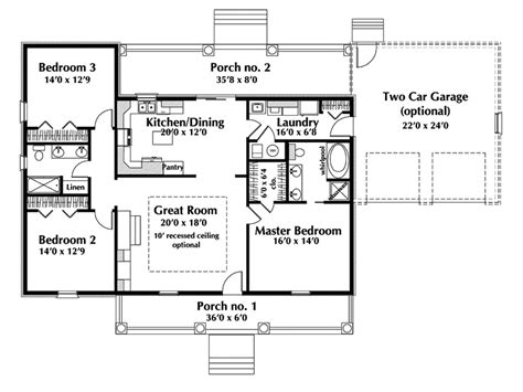 country home plans one story country style house plans one story cottage house plans