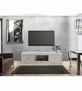 Tv Schrank Modern : tv lowboard mit 2 schubladen modern massiv aus holz ~ A.2002-acura-tl-radio.info Haus und Dekorationen