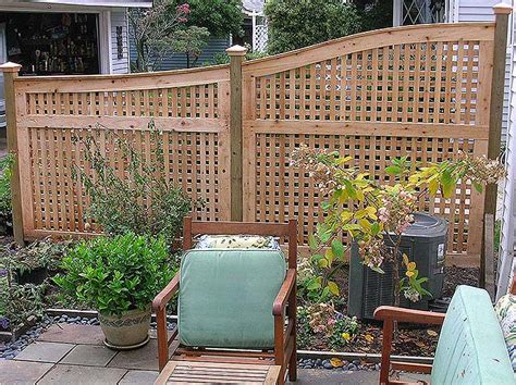 patio fences and walls stylish lattice privacy panels with curved fence top