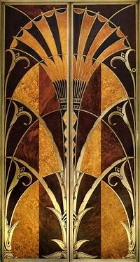 art deco images Elevator door, interior of Chrysler Building, NYC | NYC ...