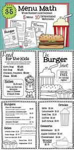 Math Restaurant Menus Bundle (4th - 5th) | Pinterest | The ...