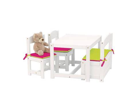Tisch Und Stuhl Kinder by Hoppekids Kinder Sitzgruppe Wei 223 1 Bank 2 St 252 Hle Und 1