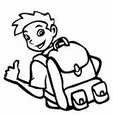 Coloring Backpack Pages Boy Cool Wear sketch template