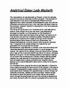 Essay Papers Online Lady Macbeth Ambition Essay Example Pollution Essay In English also How To Start A Business Essay Lady Macbeth Ambition Essay Essay On My Hero Lady Macbeth Ambition  Essay On My Mother In English