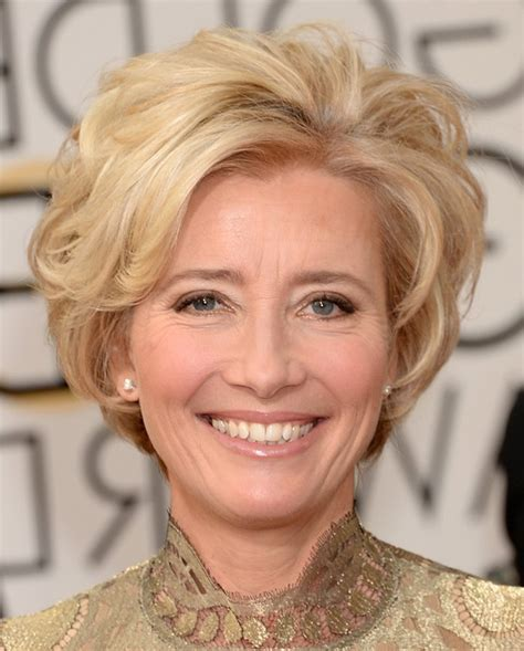 emma thompson short blonde wavy hairstyle for women over