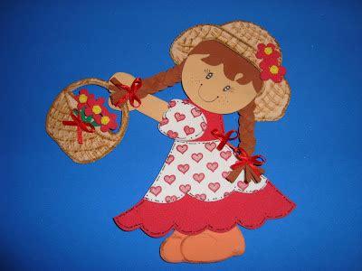arte quiane paps e moldes de artesanato molde de menina caipira feito de e v a