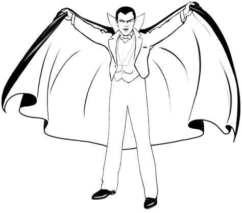 halloween coloring pages: Dracula Coloring Pages