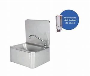 Lave Main Inox : lave mains en inox avec robinet et distributeur de savon ~ Melissatoandfro.com Idées de Décoration
