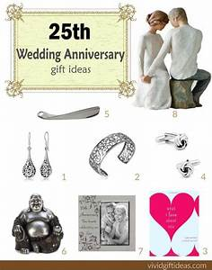 25th wedding anniversary gift ideas vivid39s With 25 wedding anniversary gift