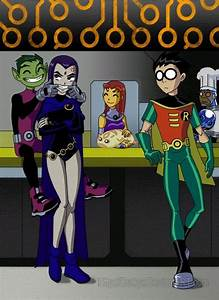 Beast Boy flirting with Raven.This was before Terra ruined ...