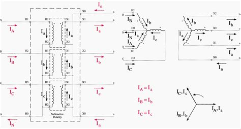 3 phase transformer wiring diagrams for bank wiring library