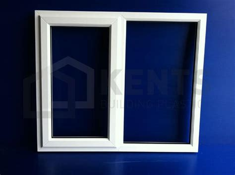 white pvc  casement window    left clr glass