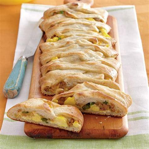 light breakfast ideas jalape 241 o sausage and egg breakfast braid healthy