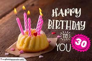 30 Dinge Zum 30 Geburtstag : happy birthday karte zum 30 geburtstag mit kuchen geburtstagsspr che welt ~ Bigdaddyawards.com Haus und Dekorationen