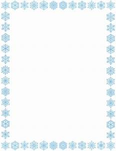 Christmas Snowflakes Borders Clipart - Clipart Suggest