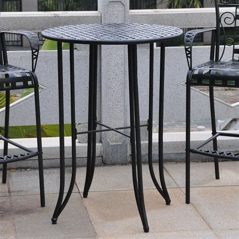 iron antique black bar height patio bar table 3467 t ep