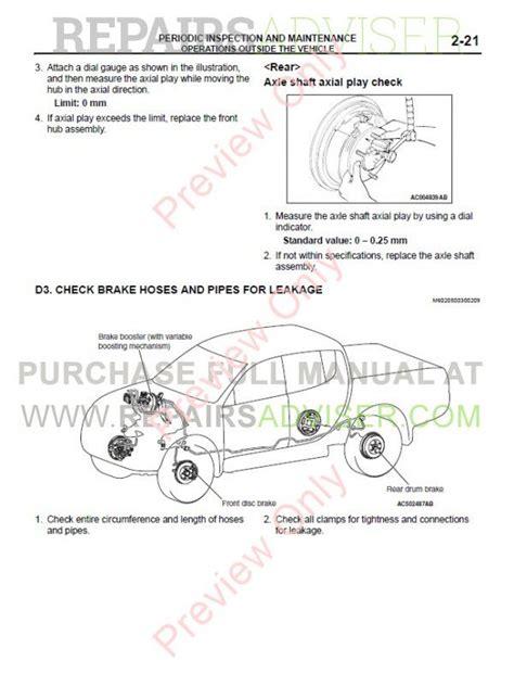 mitsubishi triton l200 2007 repair manual