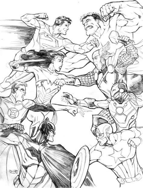 avengers vs justice league coloring pages avengers vs justice league in avengers coloring page