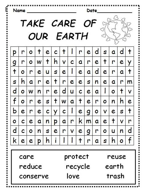 earth day word search  coloring pages  kids