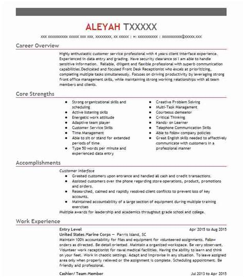 Entry Level Resume by Eye Grabbing Entry Level Resumes Sles Livecareer