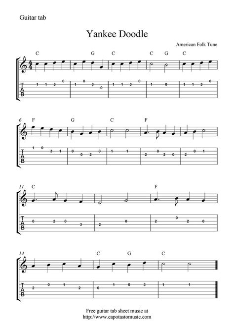 about tablature on sheet