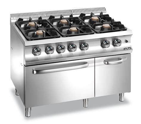 mbm g6fa77xl 6 burners on gas oven