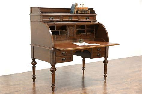 sold oak german  antique cylinder roll top desk
