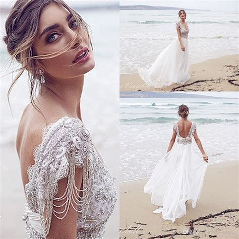 A Line Wedding 2016 New Arrival Cheap Anna Campbell A Line
