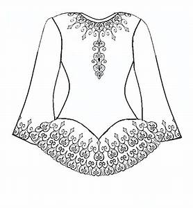 Costume Design Template Coloring Pages