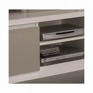 Meuble Laqué Gris : meuble tv design laqu blanc gris jewel matelpro ~ Dode.kayakingforconservation.com Idées de Décoration
