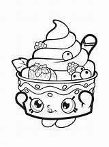 Donut Coloring Pages Shopkins Cupcake Queen Getcolorings Printable Fun Nice sketch template