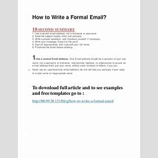 How To Write A Formal Email?