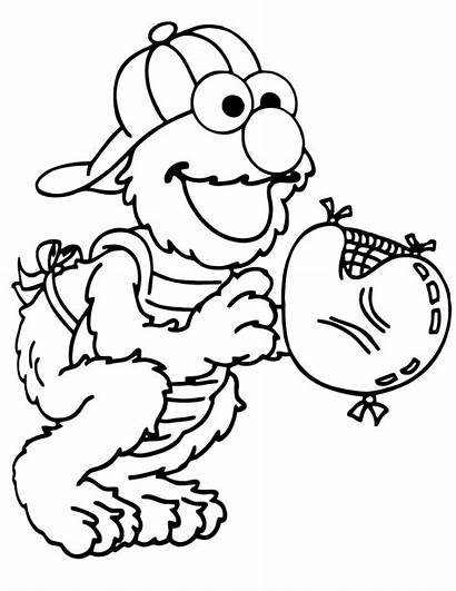 Coloring Pages Elmo Printable Baseball Sheets Catcher