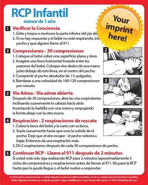infant cpr  spanish rcp infantil magnet   mil